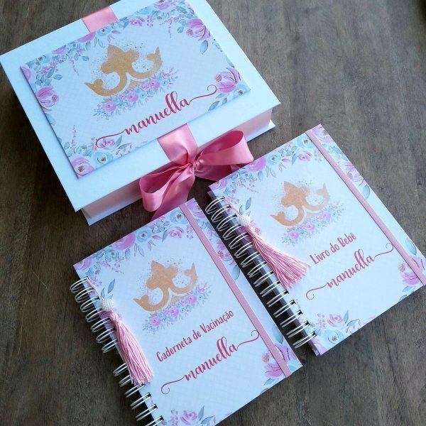 livro-do-bebe-e-caderneta-de-vacinacao-e-caixa-organizadora-cha-de-bebe